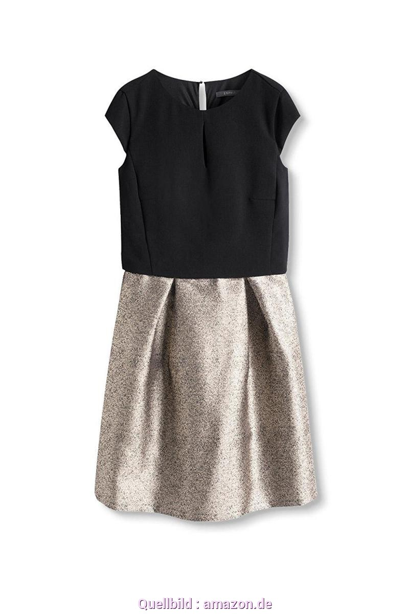 Attraktiv Esprit Kleid Jacquard ESPRIT Collection Damen Kleid 116EO1E010, Mehrfarbig (Gold 790