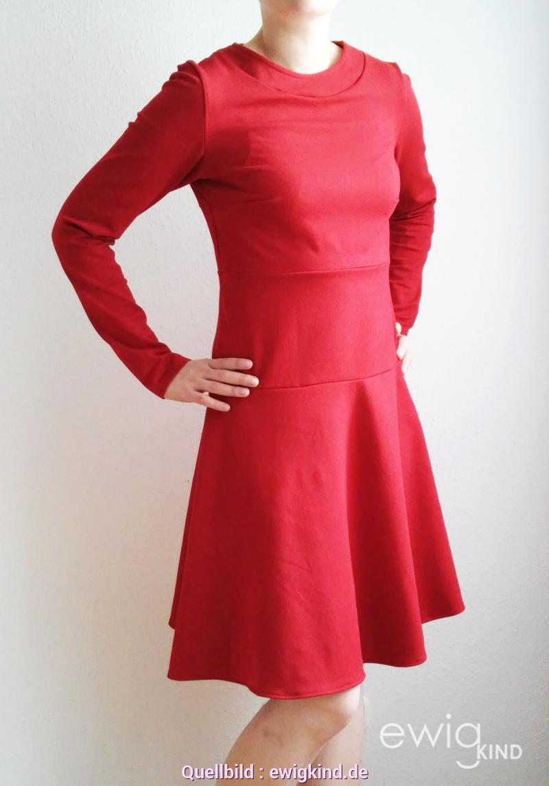 Rotes jerseykleid