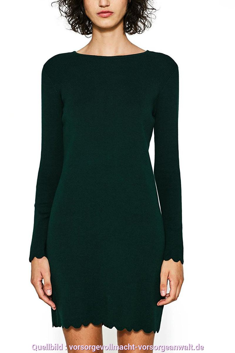 Fabelhaft Esprit Strickkleid Grün Edc By ESPRIT Damen Kleid Grün (Bottle Green 385) AR30299