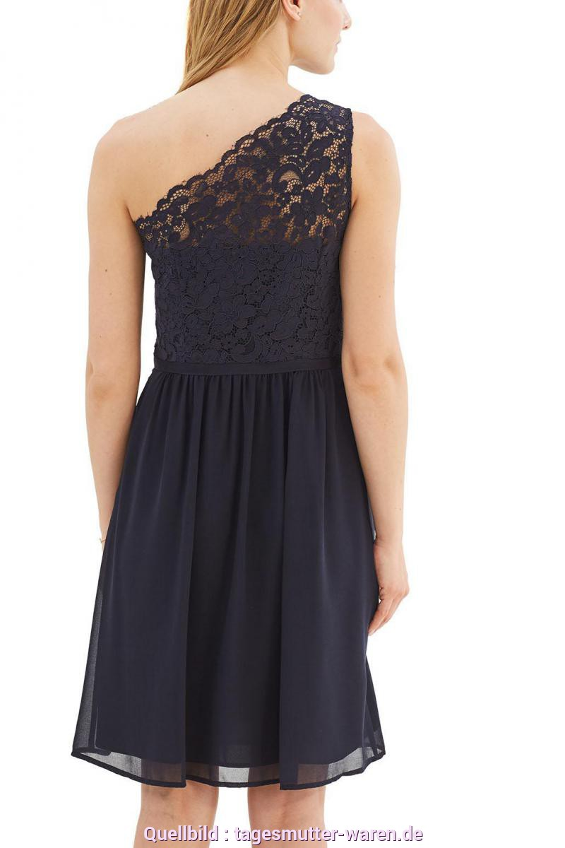 Großartig Esprit One Shoulder Kleid Schwarz Esprit Collection One-Shoulder-Kleid 'New Fluid' In Navy Chiffon