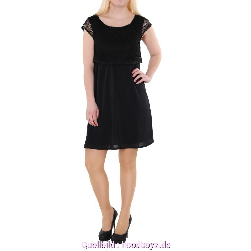 Interessant Kleid Schwarz Tom Tailor Tom Tailor Denim Ladies Fabricmix Crochetdress Kleid Schwarz