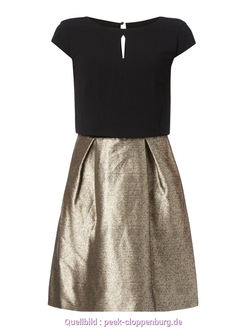 Perfekt Esprit Kleid Gold ESPRIT-COLLECTION Cocktailkleid Im Rock-Top-Look Mit Effektgarn In