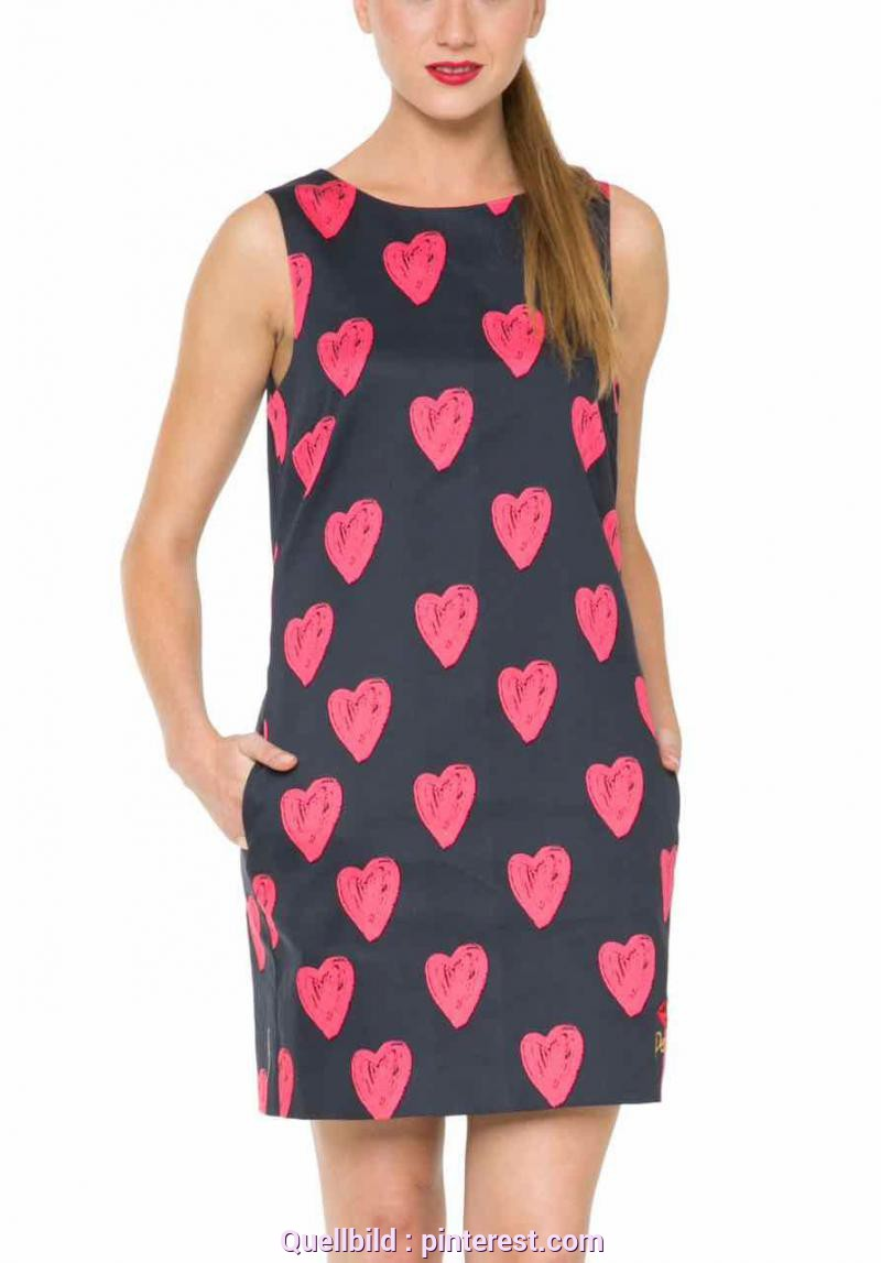 Quoet Desigual Kleid Luisa 61V28J1_2000 Desigual Dress Cristina, Black With Hearts | Desiqual