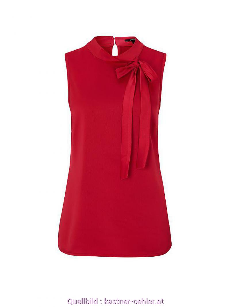 Schön Comma Blusentop Rot COMMA Bluse Rot | 34