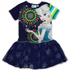 Am Leben Desigual Frozen Kleid Desigual Kleid Hugs Navy - Marisol-Kidsfashion