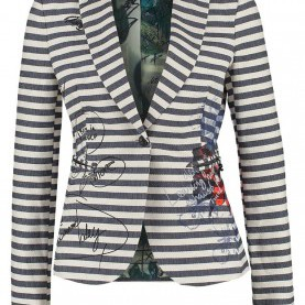 Befriedigend Desigual Blazer Blau Desigual CRAU - Blazer - Crudo Damen Blazer,Desigual Jacke Rot