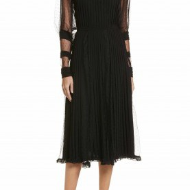 Befriedigend Georgette Kleid Esprit Point D'Esprit & Georgette Midi Dress | Midi Dresses, Nordstrom