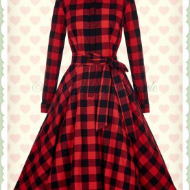 Befriedigend Kleid Rot Kariert ♥ Gingham Karo Kleider ♥ Www.Different-Dressed.De