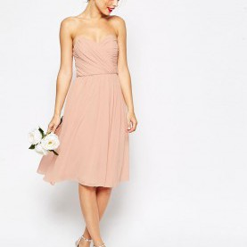 Bemerkenswert Asos Wedding Midikleid ASOS WEDDING Bandeau Midi Dress | Cocktail Dresses | Pinterest