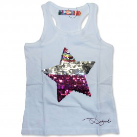 Bemerkenswert Desigual Top Weiß Desigual Saskatchewan Top Weiss - Marisol-Kidsfashion