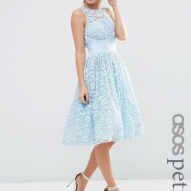 Besondere Kleider Von Asos ASOS PETITE SALON Lace Applique Midi Prom Dress | ASOS Women