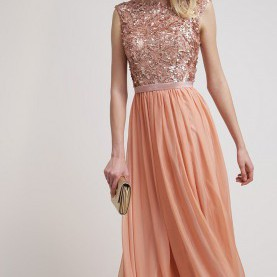 Besondere Langes Kleid Apricot Luxuar Fashion - Robe De Cocktail - Apricot | Dresses | Pinterest