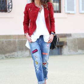 Besondere Rot Kombinieren Kleidung Rock That Sticker Jeans (FashionHippieLoves) | Kombination, Rot