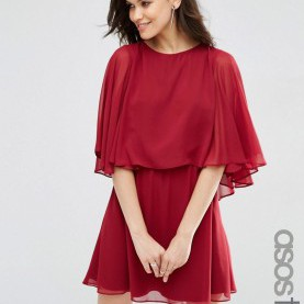 Fabelhaft Asos Tall Kleider Image 1 Of ASOS TALL Crop Cape Mini Dress | Fashion | Pinterest