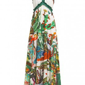 Friedlich Desigual Maxikleid Sale Desigual Coats, Desigual NENAT Maxi Dress Blanco Mistico Women