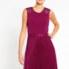 Friedlich Esprit Online Kleider Damen Kleider Esprit Collection Jerseykleid - Plum Red,Esprit