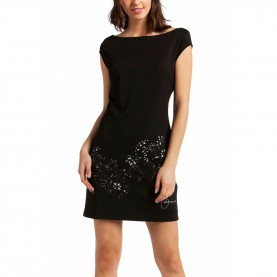 Gewöhnliche Desigual Strickkleid Schwarz Desigual Five Dress Black XL - Born2Style Fashion Store