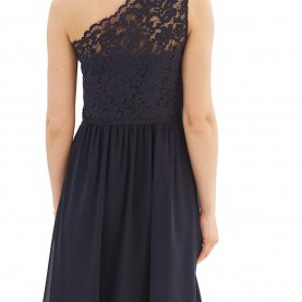 Großartig Esprit Kleid One Shoulder Esprit Collection One-Shoulder-Kleid 'New Fluid' In Navy Chiffon