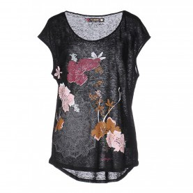 Hervorragend Desigual Top Schwarz Desigual-Women T-Shirts And Tops Outlet Factory Online Store