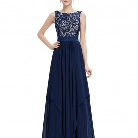 Interessant Abschlussball Kleider Dunkelblau Amazon.Com: Ever Pretty Elegant Sleeveless Round Neck Evening