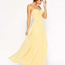 Interessant Asos Wedding Trägerloses Maxikleid ASOS WEDDING Ruched Bodice Bandeau Maxi Dress | Style | Pinterest