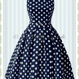 Interessant Kleid Blau Punkte Dolly & Dotty 50Er Jahre Retro Punkte Petticoat Kleid - Annie
