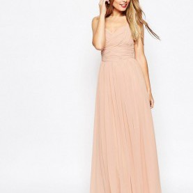 Klug Asos Kleider Maxi DESIGN Bridesmaid Ruched Panel Maxi Dress