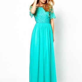 Klug Asos Türkises Kleid Virgos Lounge | Virgos Lounge Raina Embellished Shoulder Maxi