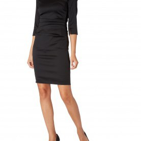 b36dbdf1500c Klug Basic Kleid Schwarz Marc Cain Collections - Kleid In Schimmernder  Optik Mit Gelegten · Einzigartig Spitzenkleid Schwarz Weiß ...