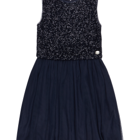 Klug Blaues Kleid Mit Pailletten REVIEW-FOR-TEENS Kleid Mit Pailletten-Besatz In Blau / Türkis