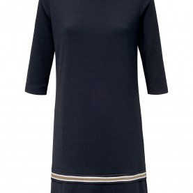 Luxuriös Comma Kleid A Linie Comma,-Kleid Mit 3/4-Arm-Marine/Ecru/Gold