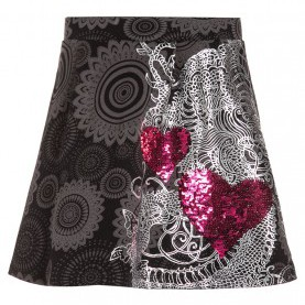 Luxuriös Desigual Rock Sale Desigual Dresses Sale, Desigual GENIS A-Line Skirt Black Kids