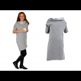 Luxuriös Graues Sweatshirt Kleid Sweatshirt Kleid. Strickkleid Sexy Pullover Sweater Pulli
