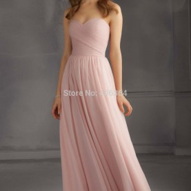 Luxuriös Rosa Kleid Lang Exquisite Elegante Rosa Lange Brautjungfer Kleid Mode Neu Design