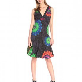 Perfekt Desigual Kleider Amazon Desigual Women'S Knitted Dress Straps 5, Green, X-Small At Amazon