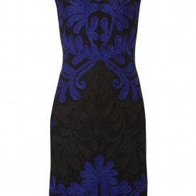 Perfekt Roman Originals Kleid Blau Schwarz Lace Contrast Embroidery Dress In Royal-Blue - Roman Originals UK