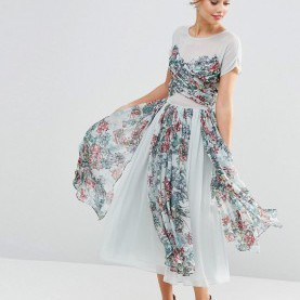 Prämie Asos Salon Kleid Image 4 Of ASOS SALON Soft Floral Midi Prom Dress | Fashion