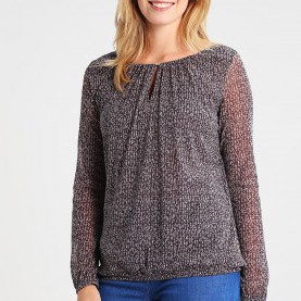 Quoet Comma Online Kaufen COMMA Long Sleeved Top - Grey/Black Women Clothing Tops Online