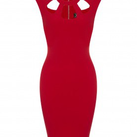 Quoet Lipsy Kleid Rot Schwarz Kardashian Cut Out Bodycon Dress In Red | Kardashian Kollection