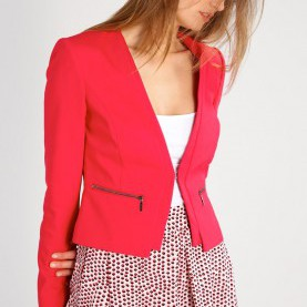Regulär Comma Mode Outlet Comma Mode Comma Blazer Red Damen Outlet : Günstige Marken Jacke