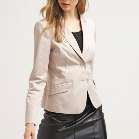 Regulär Comma Satin Blazer Comma, Women Jackets Blazer - Ivory,Comma Jumpers,Save Up To 80