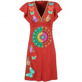 Regulär Desigual Sale Online Desigual Women Dresses FECHA Red 3038722,Desigual Bag Sale Online
