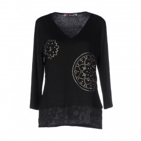 Schön Desigual T Shirt Schwarz Create A List With Onlineshops Desigual-Women T-Shirts And Tops-T