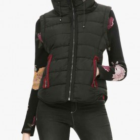 Schrullig Desigual Jacke Black DESIGUAL Jacket BLACK 2 67E29D6 | Vest With Knitted Sleeves | Buy