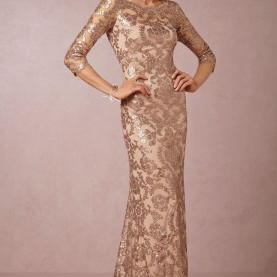 Schrullig Langes Goldenes Kleid Rose Gold Sequin Bridesmaid Dress | Ballkleid, Festliche Kleider