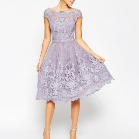 Sinnvoll Schöne Knielange Kleider Image 4 Of Chi Chi London Premium Lace Midi Prom Dress With Bardot
