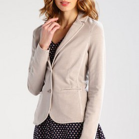 Typisch Comma Blazer Taupe COMMA CASUAL IDENTITY Blazer - Taupe Women Clothing Jackets [W