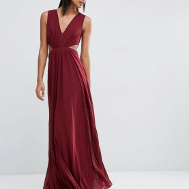Weite Cut Out Kleider Asos ASOS Side Cut Out Maxi Dress - ShopperBoard