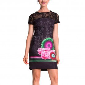 Zierlich Desigual Kleid L Desigual Matty Dress Black L - Born2Style Fashion Store