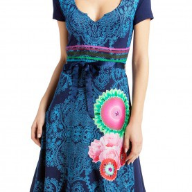 Zierlich Desigual Matty Kleid Desigual Matty Dress Marino XL - Born2Style Fashion Store